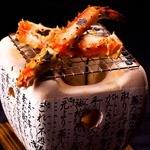 オホーツク産 本タラバ蟹の七厘焼き