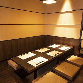 全席個室掘りごたつ個室やテーブル個室など!