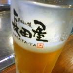 Okonomiyakinagataya - ビール。。。また飲みかけの写真ですみません。