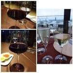 37461625 - 主人は3グラスワイン(2808円)、私は「スプマンテ(756円)」を頂きました。                       3グラスワインは数種類から選べるのですが「白」「赤」「赤」を選んでいましたね。