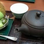 宇治園 喫茶去 - ほうじ茶とアイス