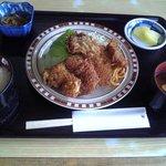 とんかつ新橋 - 魚フライランチ