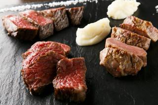 ビストロガストロス - 本日のお勧め肉の盛り合わせ 7000円〜300g 税別