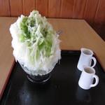 奥村氷店の焼きそば - 抹茶ミルク
