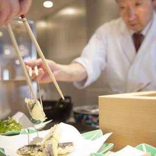 天ぷらが目の前で挙がる快感
