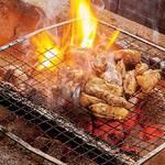 肉付きヤゲンの炭火炙り焼き