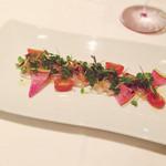 37474459 - 本日の鮮魚のカルパッチョ 菜園風