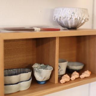 九谷焼など地元若手工芸作家作品を使った食器
