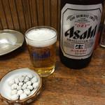 大串 - 瓶ビール、塩豆