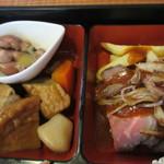喰うたりや - ホタルイカ・煮物・ローストビーフ