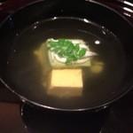 37480771 - 白魚とヨモギのゴマ豆腐