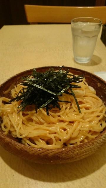 松下雄二屋 - たらことうにのスパゲティ  ¥1080   イカトッピング ¥100