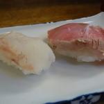 奴寿司総本店 - ☆鯛&漬け鮪(*^_^*)☆