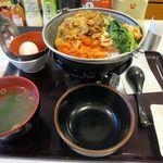 すき家 - 鍋焼ビビンバ定食580円