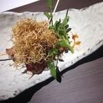 蔵戸 - お店イチオシ?フォアグラと地鶏の串 照焼き1050円