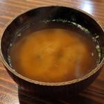 37486515 - 豆腐じゃこ丼(セットの味噌汁、2015年2月)