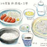 37488119 - ランチ定食(カキフライ+もりそば)