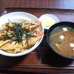 ひさ - えび玉丼(赤出し付)
