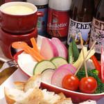 イマイケ バル - 季節野菜のチーズフォンデュ