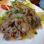 37498952 - 【肉料理(牛塩カルビ)】