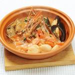 ピッツェリア - 大エビとホタテのオーブン焼き