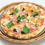 ピッツェリア - モルタデッラと彩野菜のピッツァ