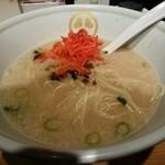 TOKYO豚骨BASE MADE by博多一風堂 - 替え玉は、紅しょうがと辛し高菜で