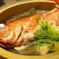 """伝統水炊き×個室 松月-""""蒸し物:キンメダイのせいろ蒸し"""""""