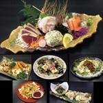 権倉 - 刺盛り付き3000円コース料理6品+2H飲み放題