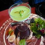 37509761 - 新ジャガイモのブランマンジュと魚介のマリネ