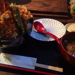 高半 - 天丼(大・昼) 1000円