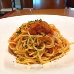 37510289 - ズワイ蟹と何とかのトマトソーススパゲッティ