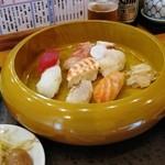 とことん - 寿司定食 @850