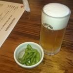 にっぽんの洋食 江戸一 - 2015/04/15 12:20訪問 生ビール