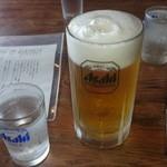 かどや - ドリンク写真:2014/10/06/ 12:10訪問 生ビール