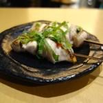 とりまる - ささみ梅肉(210円) とさびやき(210円)