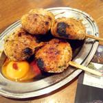 鶏屋たまい - 黄金つくね2本で250円