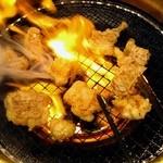 あみやき亭 東別院店 - ■国産牛トロホルモン(でら味噌)240円×2