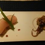 37515576 - ホタルイカ、赤鶏の刺身