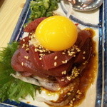目利きの銀次 - 鯨のユッケ・598円