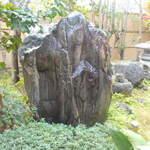 鶴亀庵 - 鶴亀庵命名の由来となった石。
