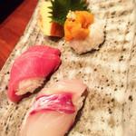 寿司割烹 「ともづな」 - 単品で注文したお寿司