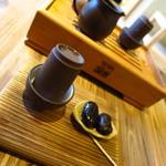 甘香茶屋 - 料理写真:ここまでのセッティングは店主が行ってくれます。