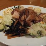 寺田屋 - チキンとたっぷり野菜のワンプレートランチ(2015年4月)
