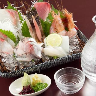 鮮度抜群!身の引き締まった魚料理は自慢の地酒とご一緒に。