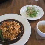 くまごろうカフェ - 料理写真:チーズオムライスAセット(1,050円)
