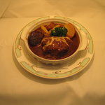 メルローズイタリアーノ - 当レストランの一番人気メニュー ビーフシチューハンバーグです