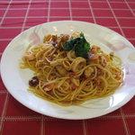 メルローズイタリアーノ - いかとほたての貝のトマトパスタは絶品です