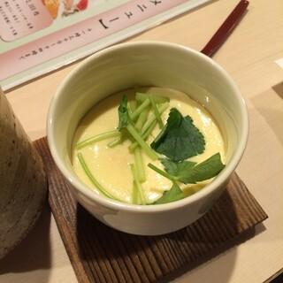 豊鮨 - 豊鮨の茶碗蒸し。