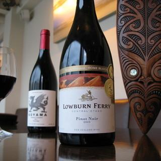 当店でサーブされるワインの全てはニュージーランド産です!